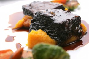 food photography of short ribs